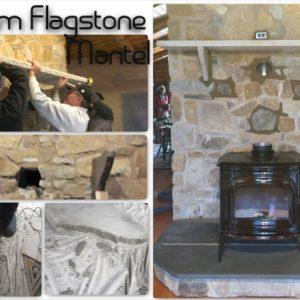 Custom Flagstone Mantel